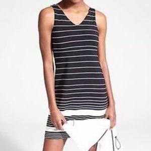 Athleta Santorini Dress Stretch Knit Striped Tank